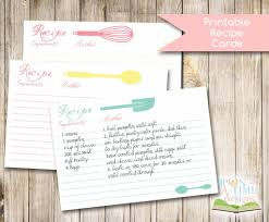 printable recipe cards free download from upon a time designs