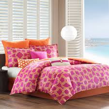 Orange And White Comforter Set Lovable Teen Bedroom Decoration With Various Teen Vogue
