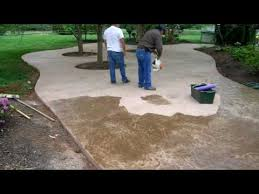 Stamped Concrete Backyard Ideas Stamped Concrete Patio Time Lapse By Concreteva Youtube