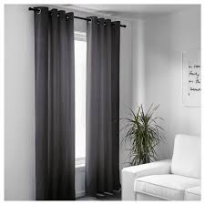 Grey And White Curtains Sanela Curtains 1 Pair 55x118 Ikea