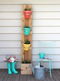 diy vertical herb garden the craft patch make your own cedar fencing and terra cotta pot