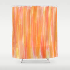 gray and orange shower curtain stripe brushed microfiber shower