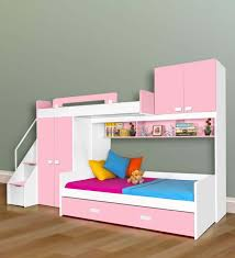 Bunk Bed With Study Table Buy Aqua Space Saver Bunk Bed Wardrobe Storage Study Table