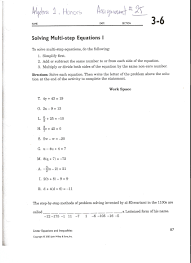 lesson 3 problem solving practice write two step equations answers solving multi step equations