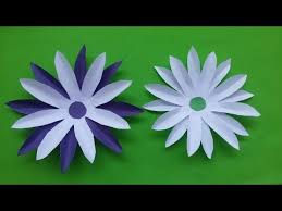 Paper Flowers Video - how to make diy paper flowers sun flower video youtube