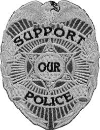 support our police badge patch law enforcement patches