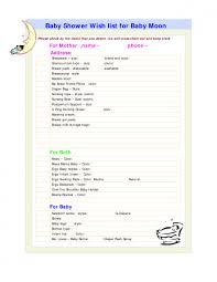 baby gift registry list photo baby shower list online image