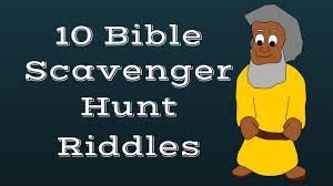 printable periodic table of the bible free bible scavenger hunt riddles to download and print