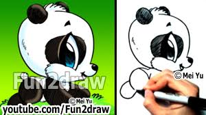 easy things to draw drawing tutorials how to draw a panda