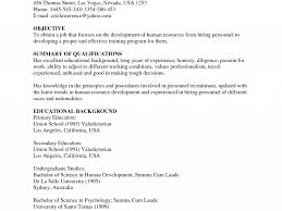 Resume Samples Hr Executive by Human Resources Generalist Resume Objective Virtren Com