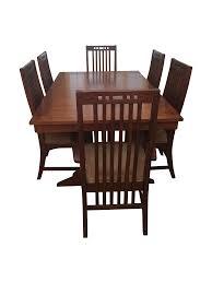 Broyhill Mission Style 7 Piece Dining Set Chairish