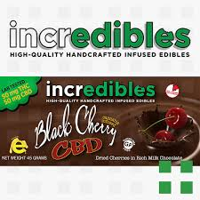 incredibles edibles incredibles black cherry cbd bar 50mg frosted leaf colfax