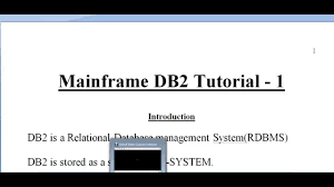 Sample Mainframe Resume by Mainframe Db2 Tutorial Part 1 Youtube
