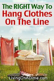 to hang clothes on a clothesline the right way