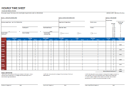 hourly timesheet template for weekly and monthly basis