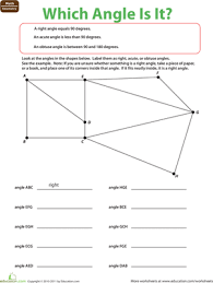 label the angle worksheet education com