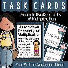 associative property of multiplication task cards fern smith u0027s