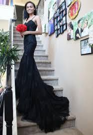 black lace mermaid dress black dress custom made black prom