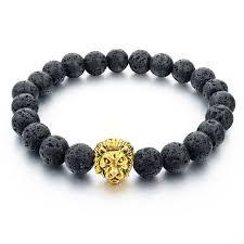 bracelet natural stones images Natural stone lion bracelet handmade beads ethnic mens jewelry jpg