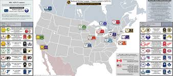Nba Map National Hockey League 1970 71 Season With The 2 Expansion Teams