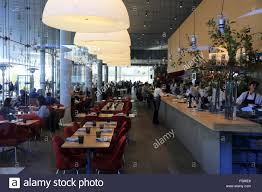 the restaurant of whitney museum of american art in trendy stock
