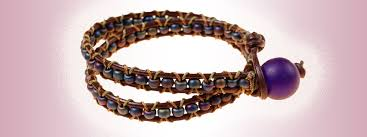 bracelet bead leather images How to make a surf bracelet using beads and leather cor mode jpg