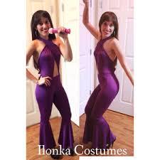selena quintanilla purple jumpsuit selena quintanilla costume purple criss cross jumpsuit polyvore