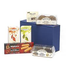 English Christmas Gifts - brew in a box u2013 blue gift hamper with english breakfast u0026 green