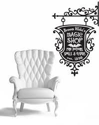 broom hildas magic shop sign wall decal sticker halloween
