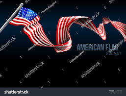Design Of American Flag American Flag Ribbon Background Design Graphic Stock Vektorgrafik