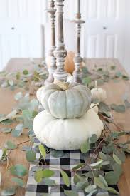12th and white simple fall tablescape