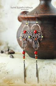 Wire Chandelier Earrings 1 By Lena Lyashevskaya Jewelry Wire Earrings 1 Pinterest