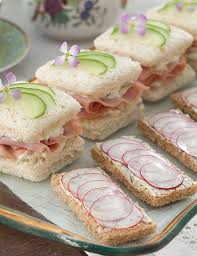 canapes m these radish dill canapés are a addition to your tea