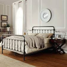 White Iron Headboard White Iron Headboard Iron Brass Sleigh Bed Vintage White