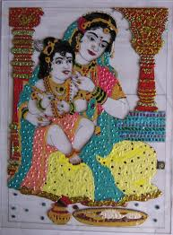 tanjore glass painting ahil art