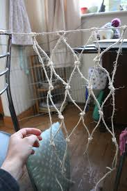 how to make netting for climbers and other gardening bits