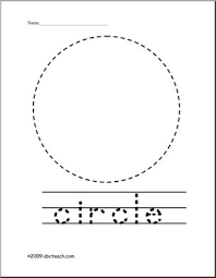 trace and color shape circle abcteach