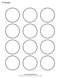 1 Inch Circle Template by Circle Templates Blank Shape Templates Free Printable Pdf
