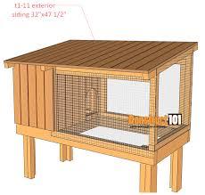 rabbit hutch plans rabbit hutch plans step by step plans construct101
