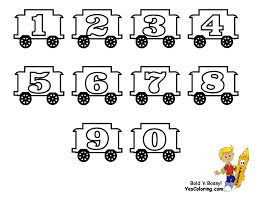 numbers coloring pages kindergarten toy train learning letters free alphabet coloring numbers