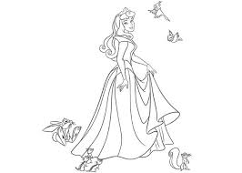 coloring cabin disney princess aurora sleeping beauty gekimoe