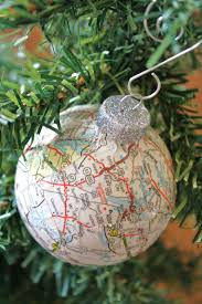 map ball ornaments