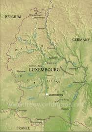 Map Of Belgium And France by Luxembourg Physical Map