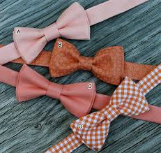 special listing for aimee boys bow ties in coral and orange