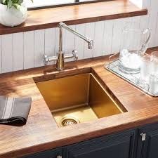 kitchen cabinet sink faucets 15 atlas stainless steel undermount prep sink matte gold