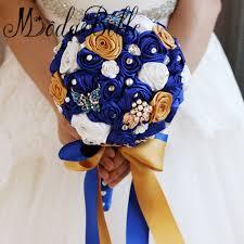 Blue Wedding Bouquets Online Shop Modabelle Handmade Roses White Royal Blue Bridal