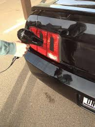 Matte Black 2005 Mustang How To Install A Matte Black Tail Light Conversion Decal On Your