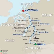 Map Of Germany Cities by German River Cruises Avalon Waterways