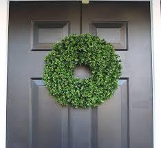 artificial boxwood wreath 16 inch front door wreaths wedding