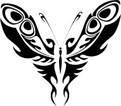 clipart butterfly line art 19